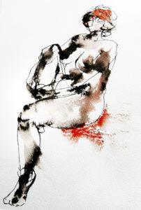 Naakt vrouw inkt