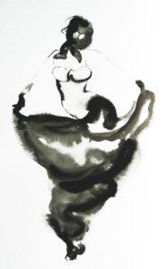 Turkse dans inkt op papier