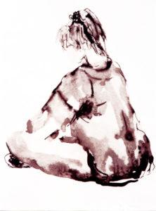 Figuur vrouw inkt