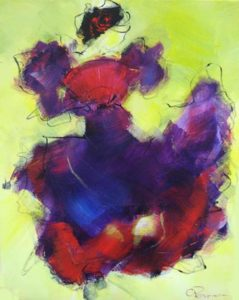 Spaanse dans acryl op doek 40x50 cm