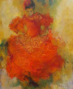 Little Carmen             acryl op linnen      afm.: 100x120cm